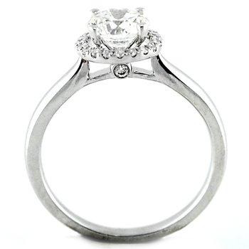 Classic Round Halo Diamond Ring