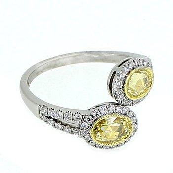 Fancy Yellow Diamond Bypass Ring