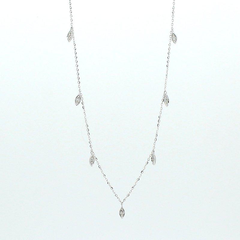 Decor Diamond Drops Necklace