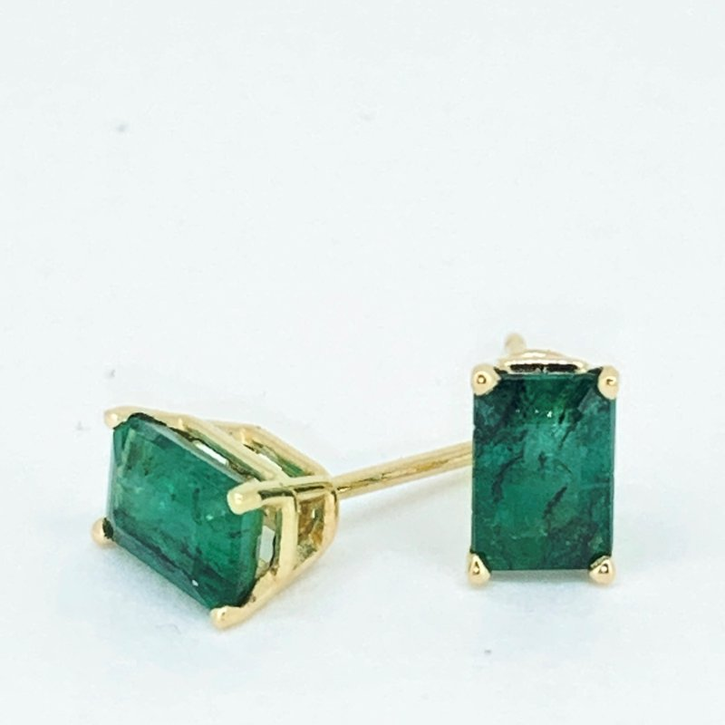 Decor Emerald Stud Earrings