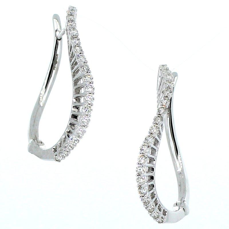 Decor 1CTW Diamond Swirl Hoop Earrings