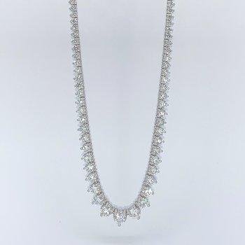 Graduated Diamond Tennis Necklace-15.24ctw