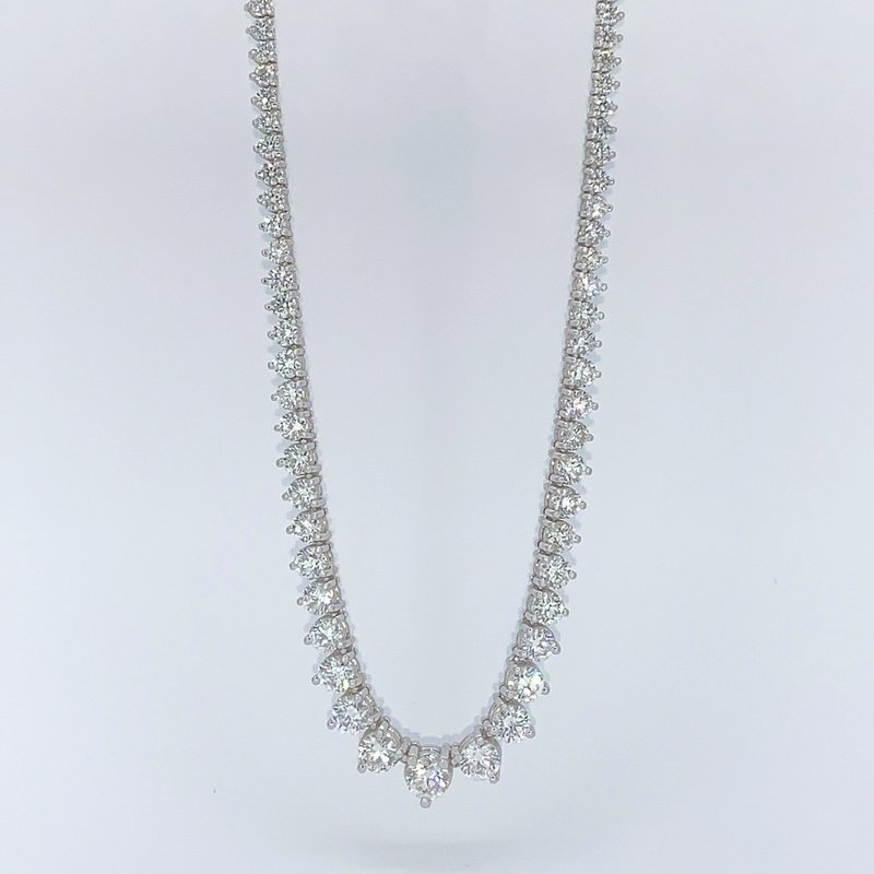Decor Graduated Diamond Tennis Necklace-15.24ctw