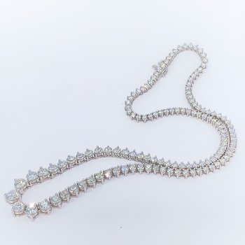 Graduated Diamond Tennis Necklace-15.24ctw