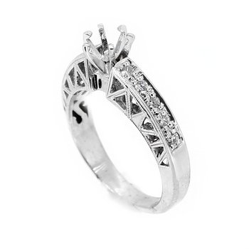 Cut Out Design Diamond Ring Mounting