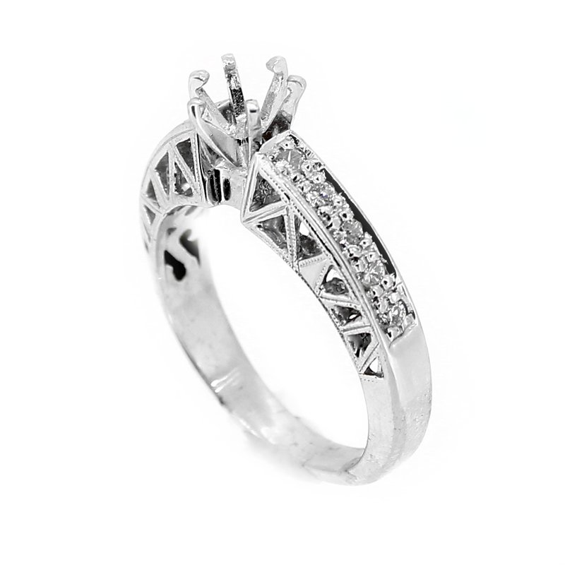 Decor Cut Out Design Diamond Ring Mounting
