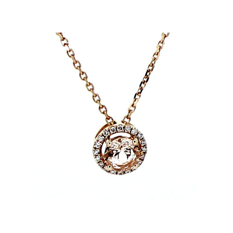 Decor Morganite & Diamond Pendant