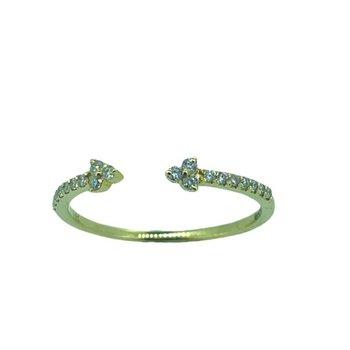 Dainty Diamond Arrows Ring