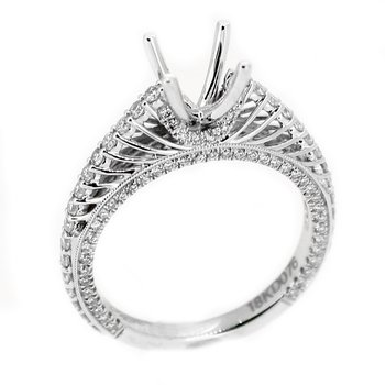 Open Spoke Cathedral Diamond Ring Mounting