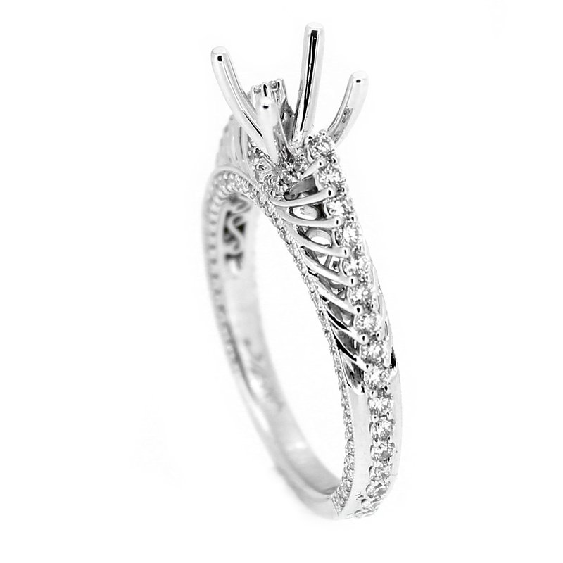 Decor Open Spoke Cathedral Diamond Ring Mounting
