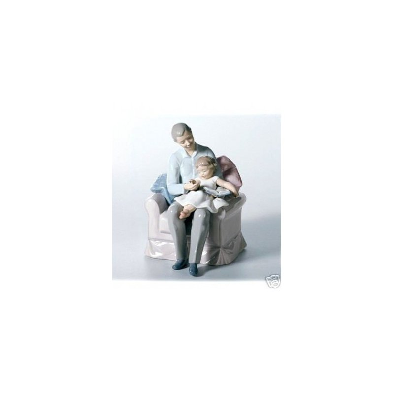 Lladro Grand Father's Stories