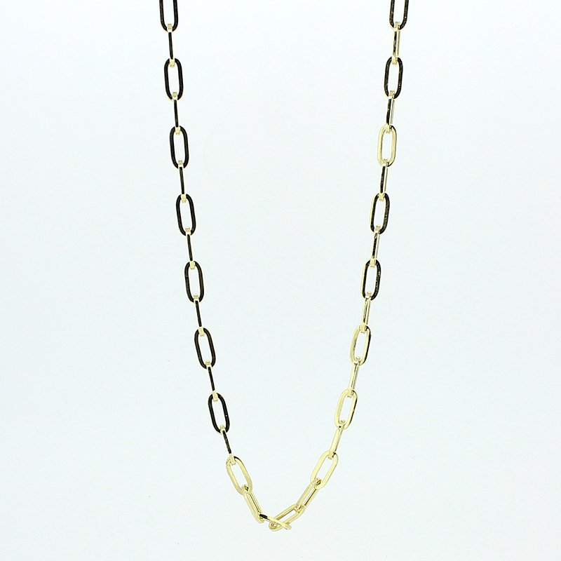 Decor Yellow Gold Paperclip Chain Necklace
