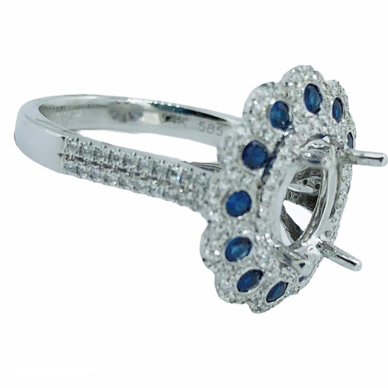 Decor Sapphire & Diamond Ring Mounting