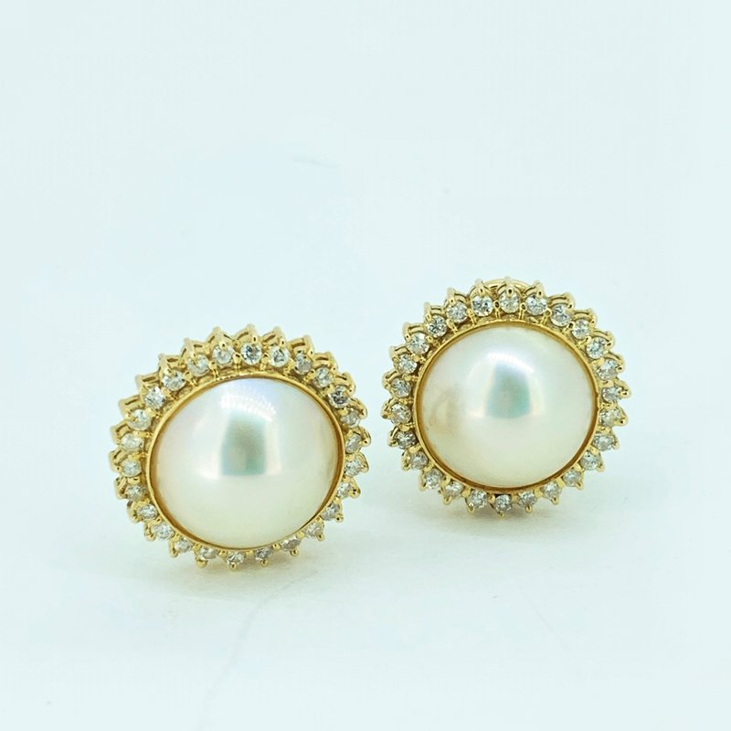 Decor Pearl & Diamond Earrings