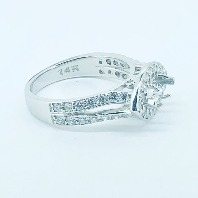 Decor Marquise Halo Diamond Ring Mounting