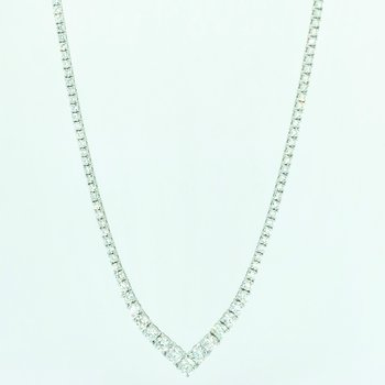 8.01ctw Diamond Tennis Necklace
