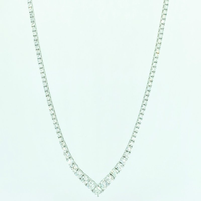 Decor 8.01ctw Diamond Tennis Necklace