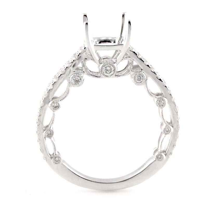 Decor Diamond Ring Mounting w/Ornate Gallery