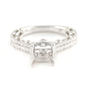 Diamond Ring Mounting w/Ornate Gallery