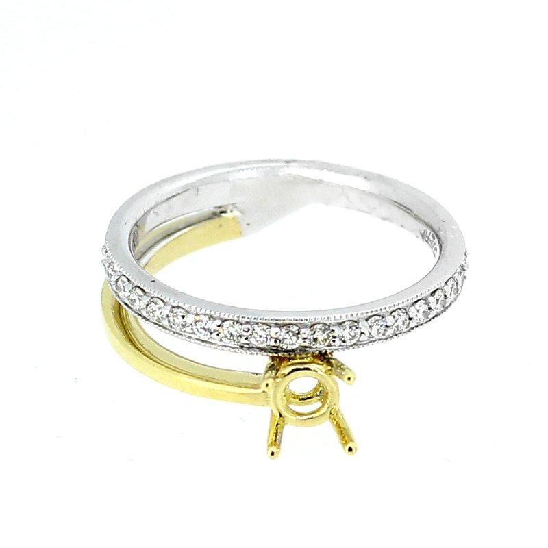Decor Two Tone Diamond Ring Mounting
