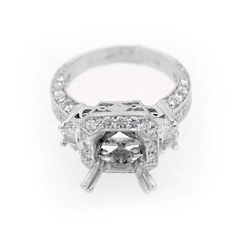 Decor Diamond Princess Cut Halo Mounting