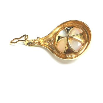 Diamond and Mabe Pearl Pendant