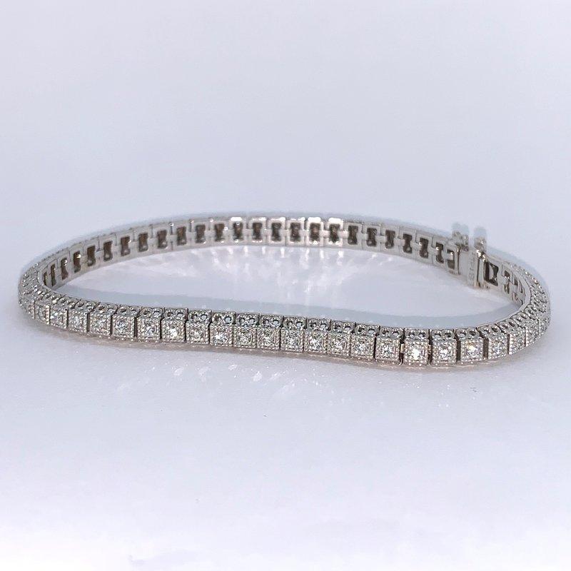 Decor Vintage Inspired Diamond Tennis Bracelet