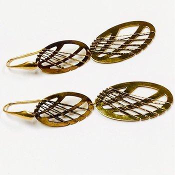 Open Gold Dangle Wrap Earrings