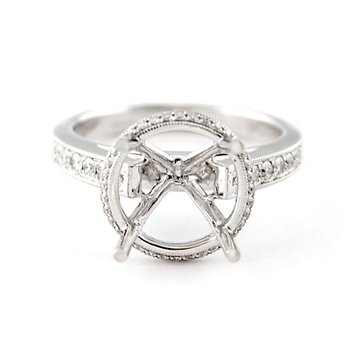 Halo Engagement Ring Mounting