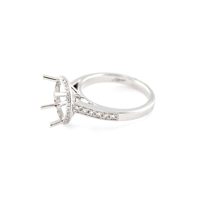 Decor Halo Engagement Ring Mounting