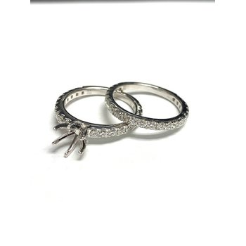 6 Prong Diamond Ring Mounting Set