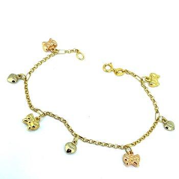 Heart & Bow Charm Bracelet