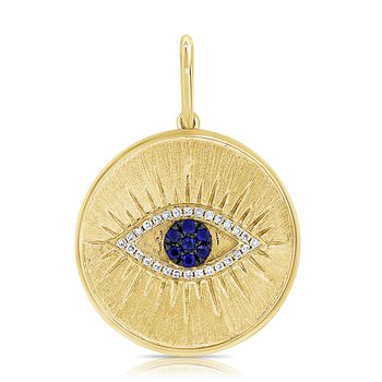 Sapphire Evil Eye Pendant