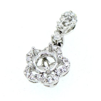 Floral Halo Diamond Pendant Mounting