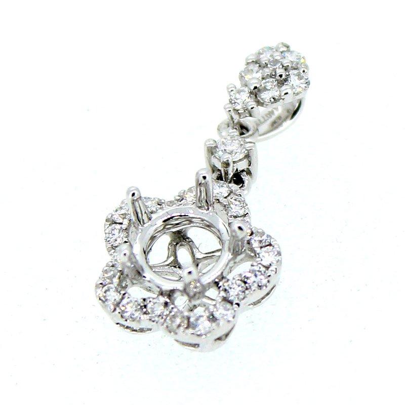 Decor Floral Halo Diamond Pendant Mounting