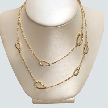 Gold Open Link Chain Necklace