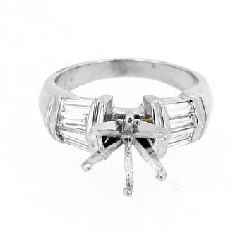 Estate Baguette Diamond Ring Mounting