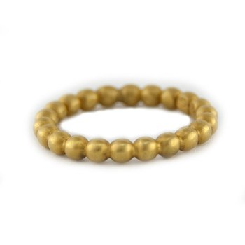 Yellow Gold Beaded Matte Finish Band