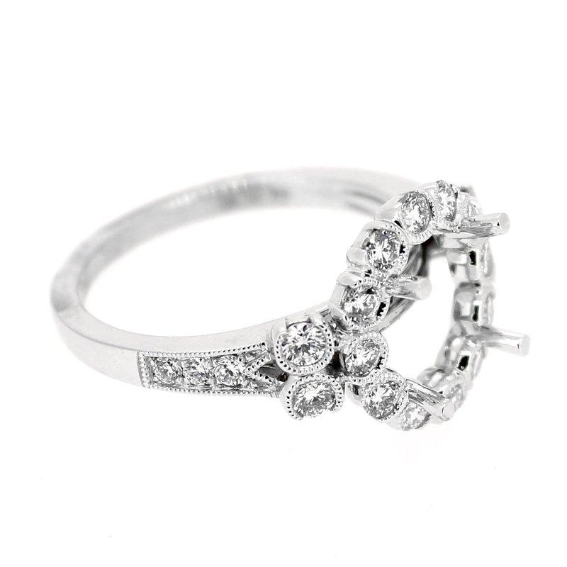 Decor Round Halo Diamond Ring Mounting