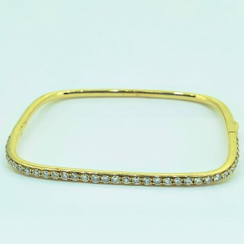 Square Diamond Bangle Bracelet