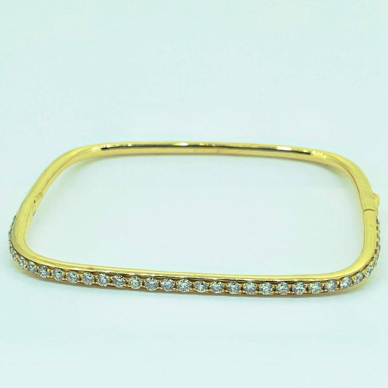 Decor Square Diamond Bangle Bracelet