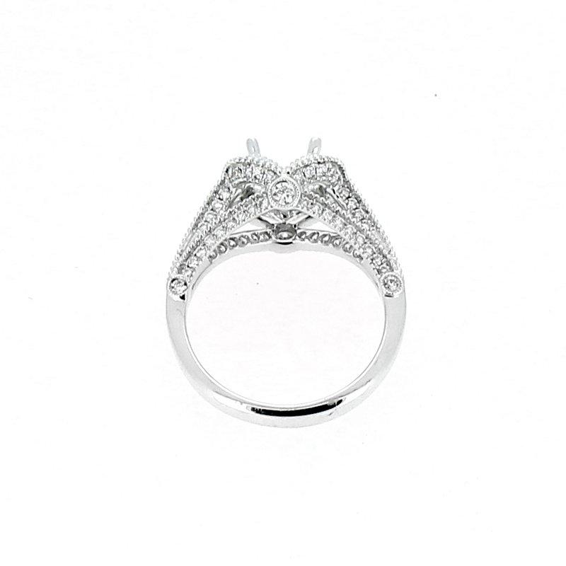 Decor Arched Halo Diamond Semi Mount