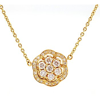 Diamond by the Yard Flower Pendant