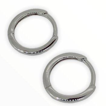 White Gold Huggie Hoop Earrings