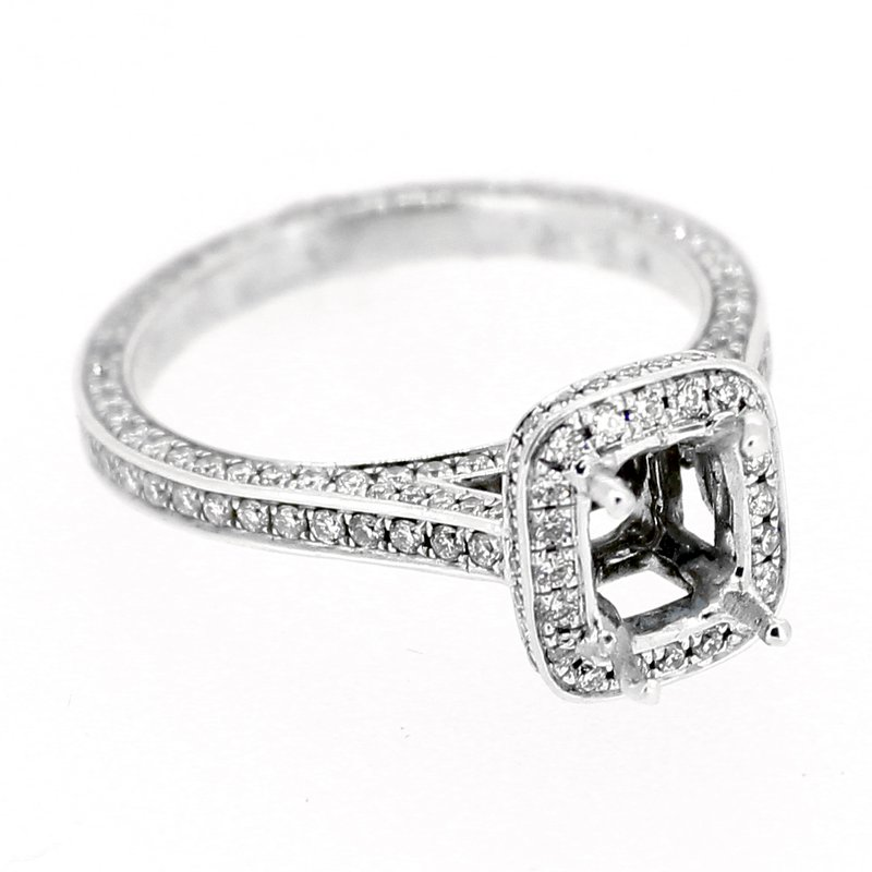 Decor Diamond Halo Engagement Ring Mounting