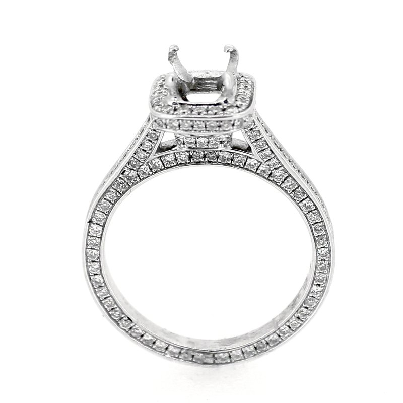 Decor Diamond Halo Engagement Ring Mounting