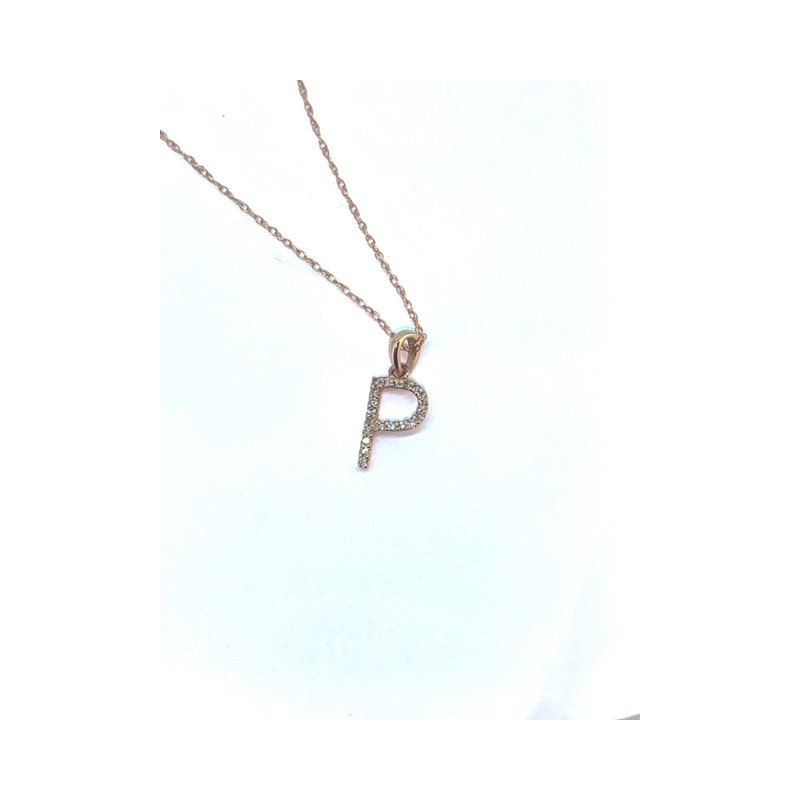 Sabrina Diamond Initial Necklace