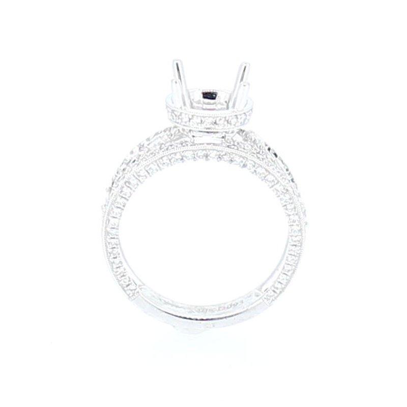 Decor Open Work Wide Diamond Ring Mounting