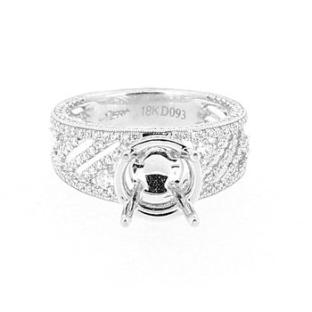 Open Work Wide Diamond Ring Mounting