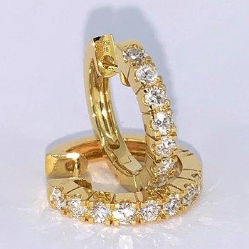 .73ctw Diamond Huggie Hoop Earrings